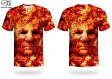 Flame skull 3d printed harajuku streetwear animal t shirts funny