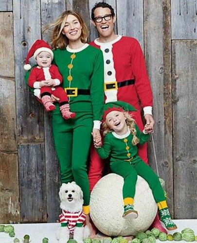 2019 New Christmas Family Pajamas Set Santa Adult Kids Women Sleepwear Nightwear Cosplay Long Sleeve Home Wear