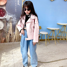 Kids Girls Leather Jackets white 2020 Spring Leather Jackets in Kids Girls Coats and Outerwear children Motorcycle Jackets coats cheap Ms Qiman Fashion Faux Leather Solid REGULAR Turn-down Collar Full Fits true to size take your normal size Thin (Summer)