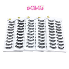 цены NEW 10 pairs Handmade 3d mink lashes short False Eyelashes Cross Messy Dense Natural Eye Lashes Stage Makeup False Eyelashes