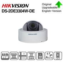 Hikvision Original PTZ Cam DS-2DE3304W-DE 3MP IP Network Mini Dome Camera 4X Optical Zoom 2-way Audio Support Ezviz Remote View