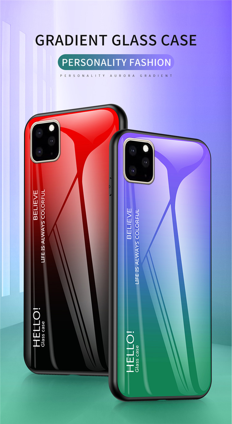 Ollyden Gradient Tempered Glass Cases for iPhone 11/11 Pro/11 Pro Max 33