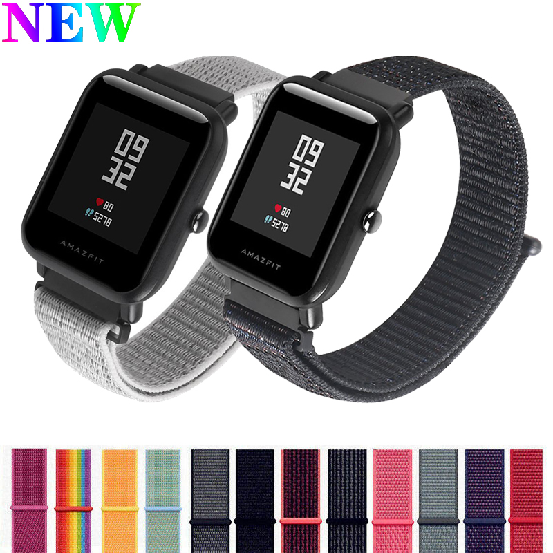 22mm/20mm Band For Huami Amazfit GTS/Bip Lite/GTR 42mm/pace/GTR 47mm/stratos Strap Nylon Weave Belt Accessories