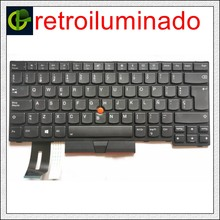 Backlit teclado espanhol para Lenovo Thinkpad E480 E485 L480 L380 T490 E490 E495 L490 T495 T14 yoga L390 T480S P43S SP LA Latina