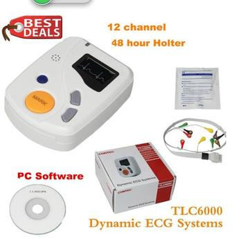 Dynamic TLC6000 48hour 12 Channel ECG/EKG Holter Monitor Alalyzer Recorde CONTEC Manufacture CE FDA 1