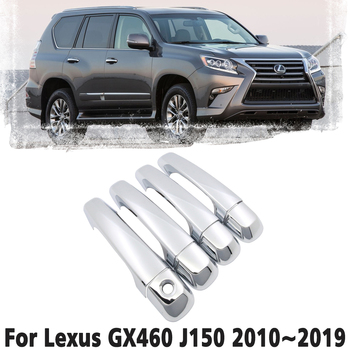 Luxury chrome door handle cover trim protection cover For Lexus GX460 J150 LC150 150 2010~2019 Car accessory sticker 2011 2012 image