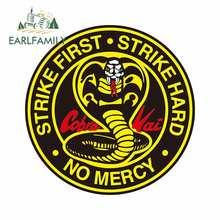 Earlfamily 13cm para cobra kai círculo logotipo grande cobra 13 decalque fino à prova dwaterproof água adequado para van rv vinil etiqueta do carro decoração