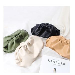 Image 4 - Luxury Designer New Cloud Shape Women Day Clutch Bag Pleated Dumpling Shoulder Messenger Bag Small Cute Lady Crossbody Handbag