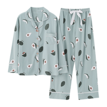 Cartoon Pajama women's spring and autumn cotton long sleeve home clothes autumn and winter cotton lovely Korean fresh Pajama sui