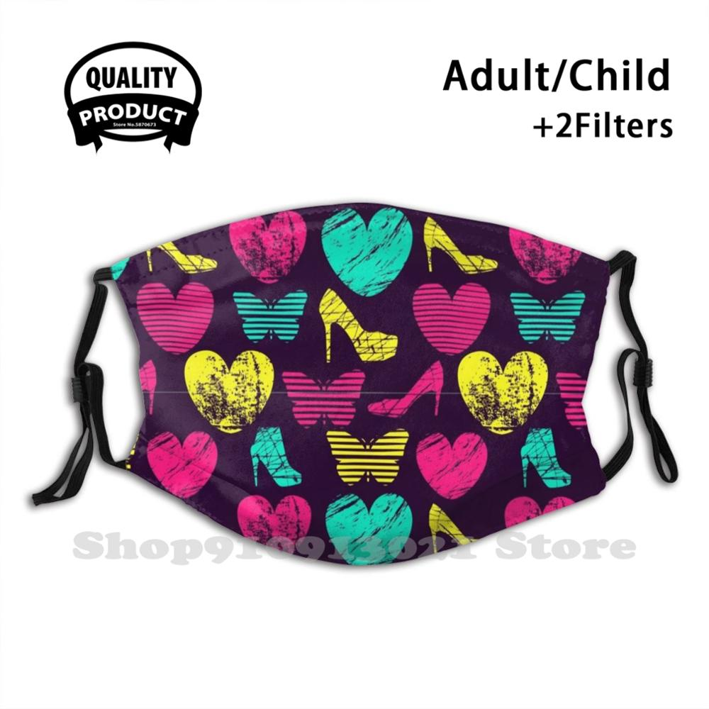 High Heels Grunge Hearts And Butterflies Diy Adult Kids Mouth Mask Shoes High Heels Love Shoes Fashion Shoes Heels Buy Shoes