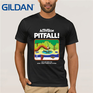 Ctivision Pitfall Atari 2600 - G200 Gildan, camiseta Ultra de algodón, camiseta divertida para hombre, camiseta de dibujos animados Herre, camiseta Champiom clásica
