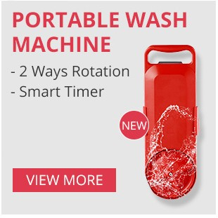 Máquina de lavar portátil toda a rotação