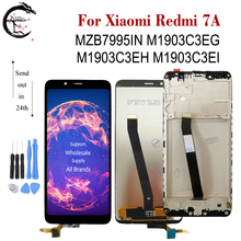 LCD Con Frame Per Xiaomi Redmi 7A lcd MZB7995IN Display Touch Screen Digitizer Assembly Redmi7A M1903C3EG M1903C3EH Display