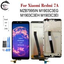 Pantalla LCD con marco para Xiaomi Redmi 7A, montaje de digitalizador táctil, MZB7995IN, M1903C3EG, M1903C3EH