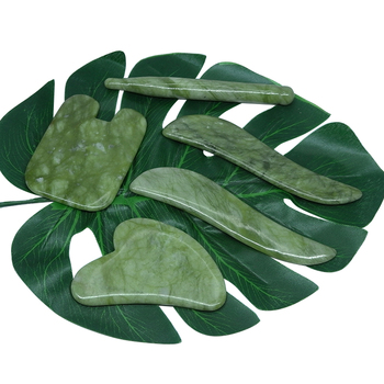 High Quality New Scraping Massage Facial Skin Care Jade Back Body & Relax Face Leg Slimming Thin Guasha tool