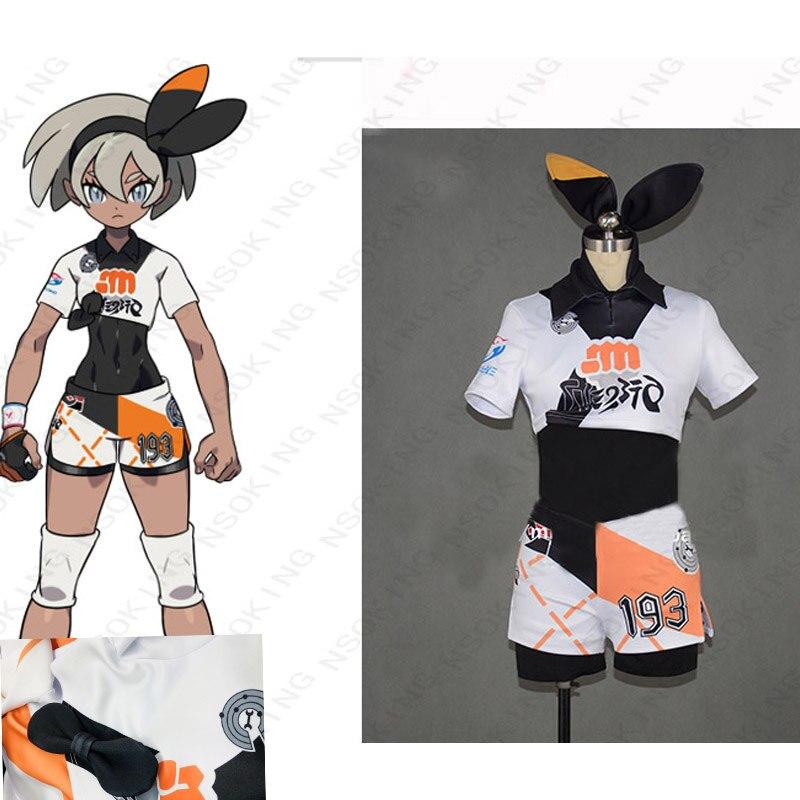 Anime Game Pokemon Sword Shield Bea cosplay costume custom-made
