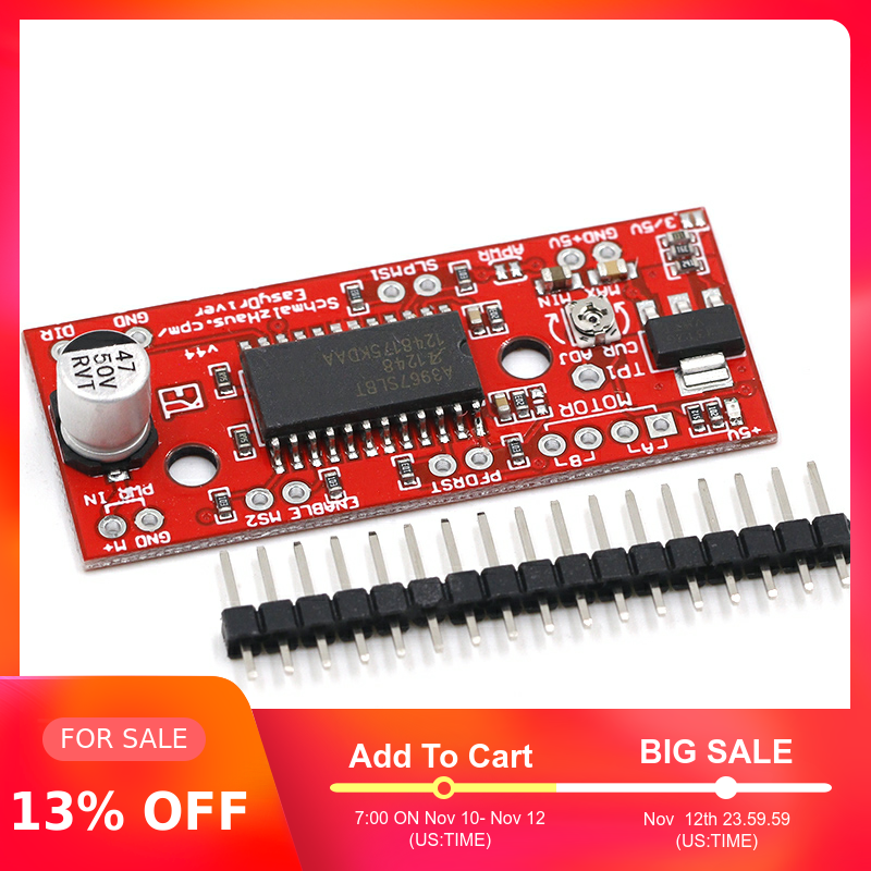 1pcs A3967 EasyDriver Stepper Motor Driver V44 For Arduino Development Board 3D Printer A3967 Module