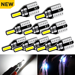 10pcs T10 W5W LED Interior Bulb Car Lights 194 168 Auto Lamp For Peugeot 307 206 207 306 308 406 508 307 406 3008 2008 5008 301