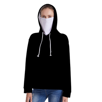 Women's Hoodie Hooded Pullover Solid Color Personalized 3D Digital Color Printing Sweatshirt Hoodies Women Can Be Customized