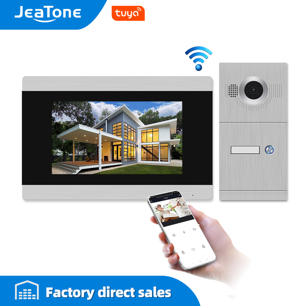7 Inch Touch Screen WIFI IP Smart Video Door Phone Intercom System With Out Doorbell Support IOS/Android Free APP Remote Unlock