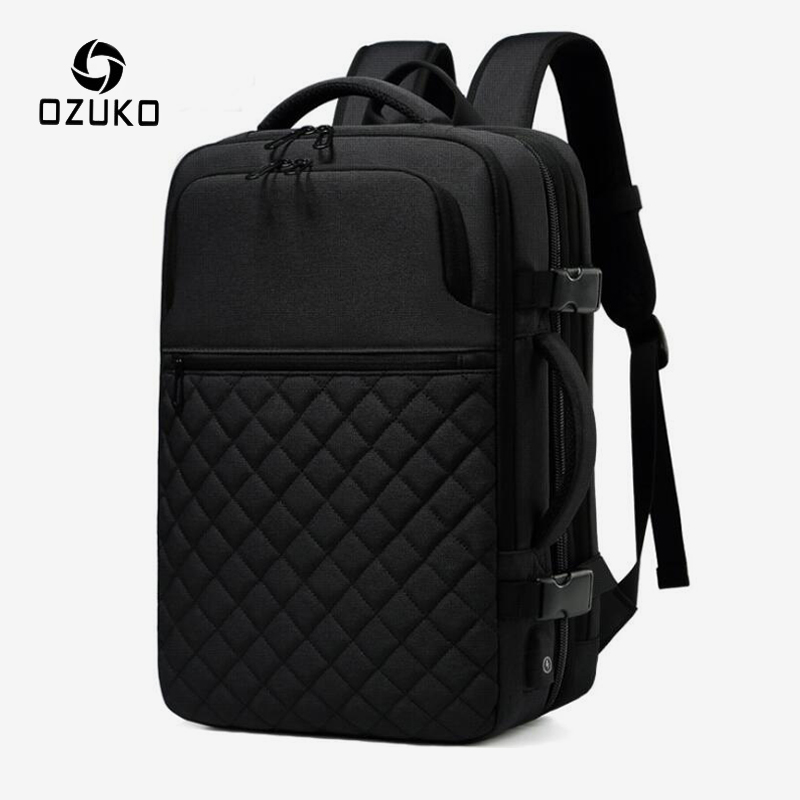 OZUKO Multifunction Expandable Large Capacity Backpack For Men USB Charge Casual Travel Backpack Male 15.6 Inch Laptop Rucksack
