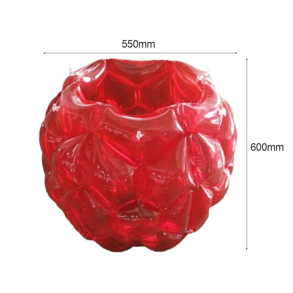 PTOTOP детский надувной тела Мячи zorb бильярдные футбольные костюмы ПВХ подвижных игр на свежем воздухе забавные мяч для бампера кузова игрушка для детей 60*60*55 см - Цвет: Красный