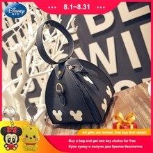 лучшая цена Disney New Handbags High Quality PU Leather Women Bag Mickey Head Lantern Triangle Package Sweet Girl Shoulder Mini Female Bag