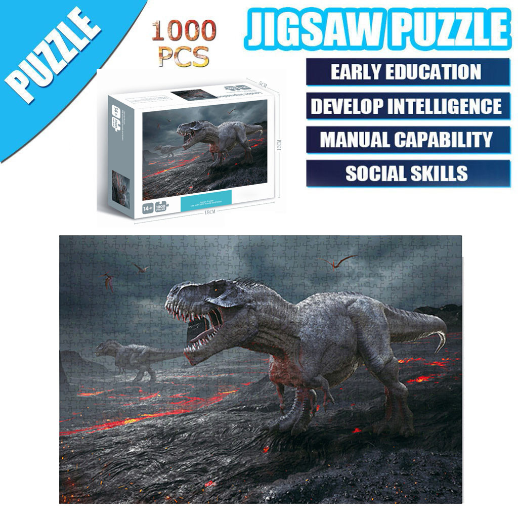 Pieces Dinosaur Jigsaws Picture Puzzles Paper