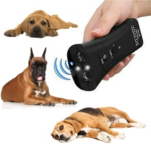 Ultrasonic Dog Chaser Aggressive Attack Dogs Repeller Pets Trainers LED Flashlight Useful Pet Supplies Training Tools