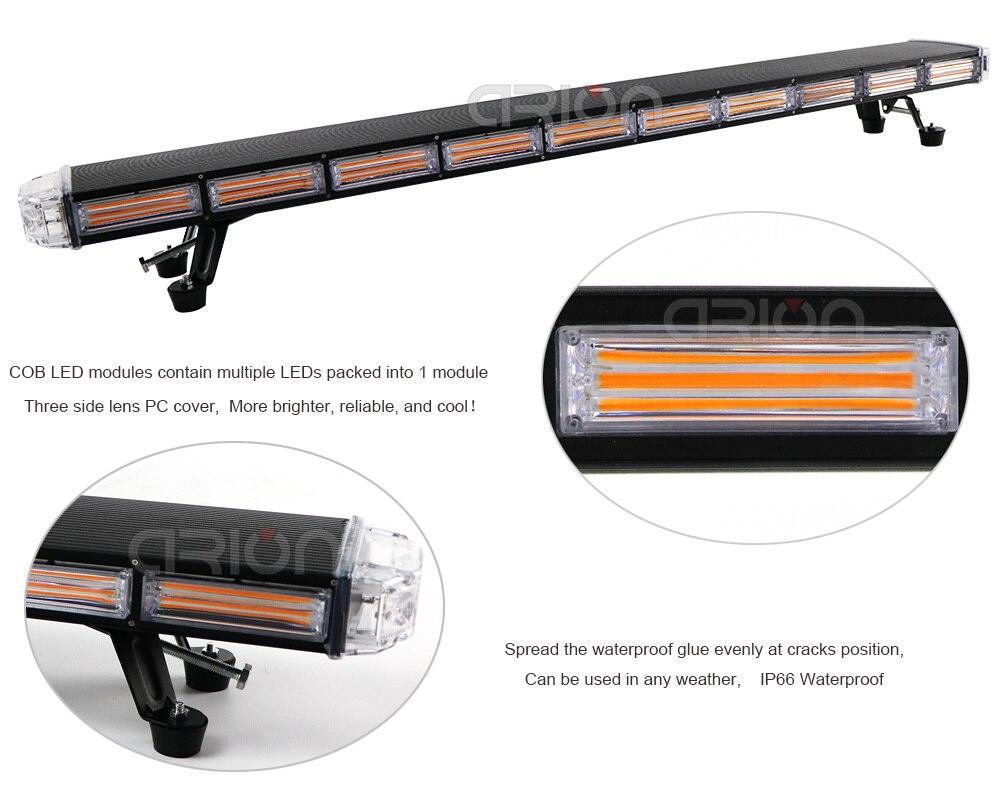 "Image 2 - 29"" to 63"" COB led Emergency Warning Lights Recovery LightBar Wrecker Flashing Beacon Strobe Light Bar Amberstrobe light barlights barflashing beacons -"