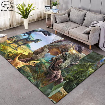 Nordic 3D Dinosaur carpet kids living room sofa bedroom play mat cartoon parlor large carpets hallway door mat customized 005