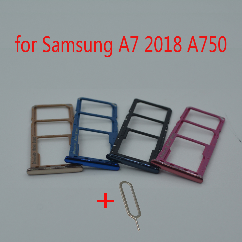 For Samsung Galaxy A7 2018 A750 A750F A750FN A750G A750GN Original Phone Housing SIM Tray Adapter Micro SD Card Tray Holder