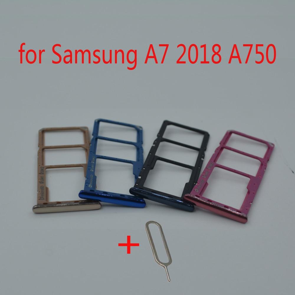 For Samsung Galaxy A7 2018 A750 A750F A750FN A750G A750GN Original Phone Housing SIM Tray Adapter Micro SD Card Tray Holder