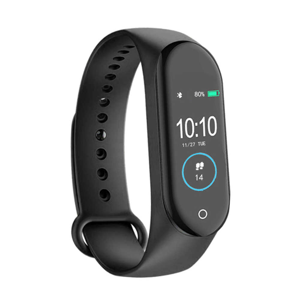 M4 Smart Gelang Band 4 Gelang Bluetooth Watch Denyut Jantung Kebugaran Tidur Monitor Tahan Air Smart Gelang Watch Pria Wanita