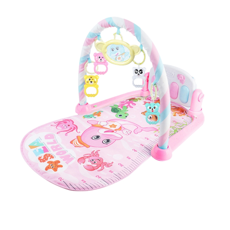 Baby Play Mat Baby Gym Toys Gaming Carpet 0-12 Months Soft Lighting Rattles Music Mat Infant Crawling Activity Mat Toys