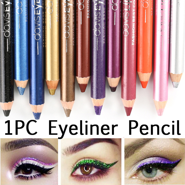 12 Colors Durable Highlighter Waterproof Sweatproof Eyeshadow Pen Pigment Pen Fashion Women Eyeliner Pencil Cosmetic