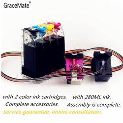 GraceMate zamiennik dla HP 62 XL system atramentowy CISS kompatybilny z dla HP Envy 5640 OfficeJet 200 5540 5740 5542 7640 drukarki w System stałego zasilania atramentem od Komputer i biuro na