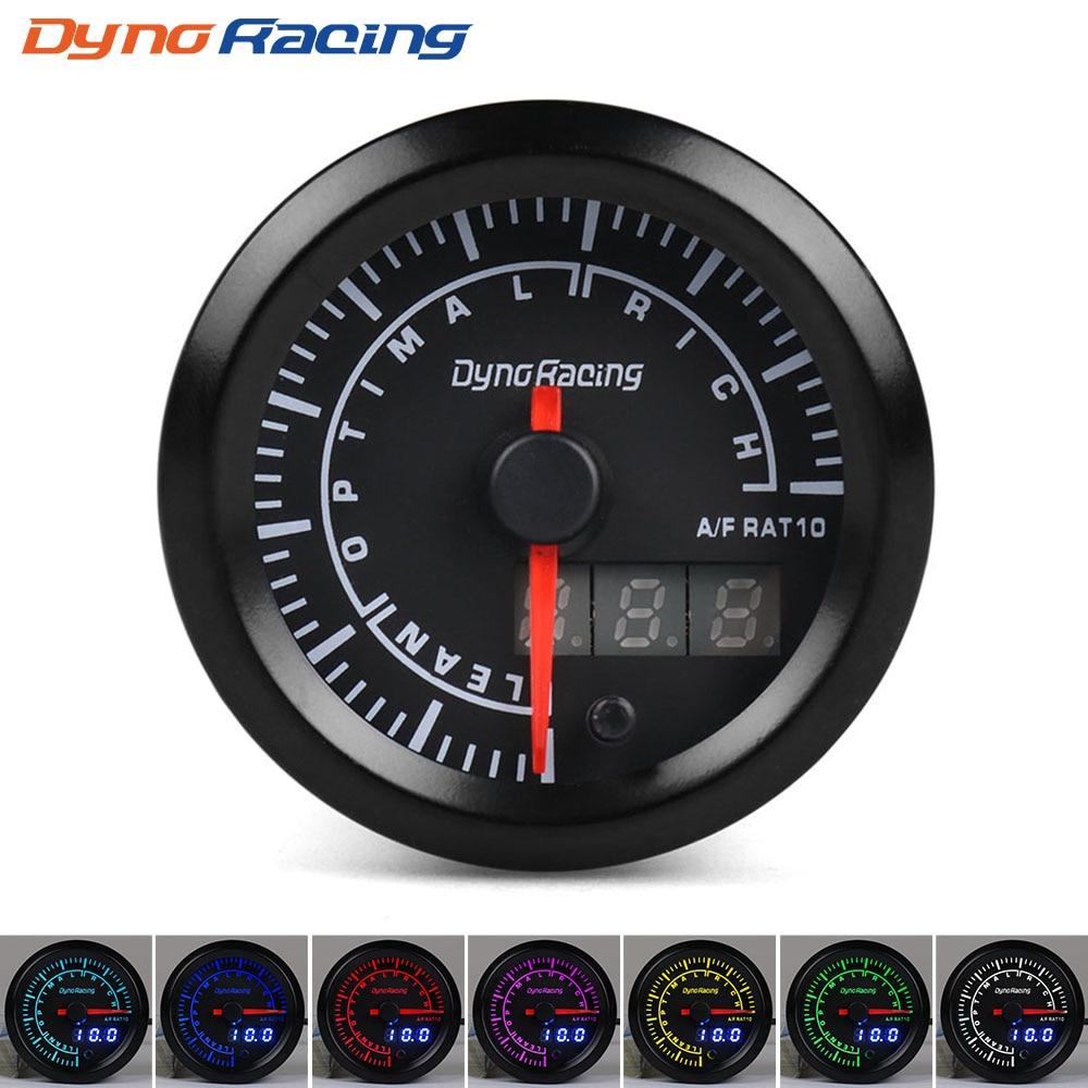 Dynoracing-52mm-Dual-Display-Air-fuel-ratio-gauge-7-colors-Led-Air-fuel-ratio-meter-Car