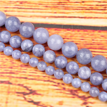 Purple Sapphire Natural Stone Bead Round Loose Spaced Beads 15 Inch Strand 4/6/8 / 10mm For Jewelry Making DIY Bracelet Necklace