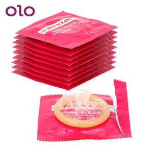 OLO 10 PiecesNatural Latex Lubricated Condoms Large Oil Contraception Penis Cock Sleeve Ultra Thin Sensation Sex Toys for Men(China)