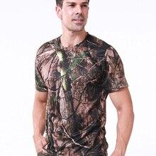 2020 охотничьи камуфляжные рубашки, быстросохнущая тактическая рубашка, футболки, камуфляжные армейские военные свободные футболки, одежда ...