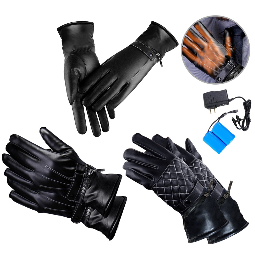 Electric USB Charging Heating Gloves Riding Warm Heated Gloves In Winter For Men And Women For Outdoor Skiing Hiking US Plugs