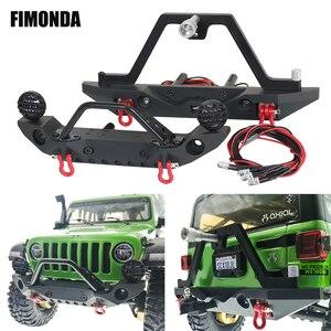 Металлический передний и задний бампер Stinger светодиодный светодиодсветильник кой для 1/10 RC Crawler Axial SCX10 & SCX10 III TRX4 Redcat Gen8 ABSiMA Sherpa
