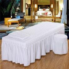 190*80 см твердый красивый стол для массажного салона, простыня, приятная для кожи, простыня для массажа, спа-процедуры, кровать, полное покрытие с юбкой