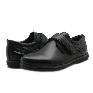 Image 5 - Apakowa Brand New Childrens Pu Leather Boys Shoes Spring & Autumn Black Flat Kids School Dress Shoes Wedding Casual Loafers