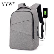 15.6inch Laptop Backpack Anti Theft Men Backpack With Usb Interface Travel Teenage Backpack Bag Waterproof Male Bagpack Mochila gray men s backpack with usb interface black laptop backpack zipper classic male blue travel school bag anti theft backpacks