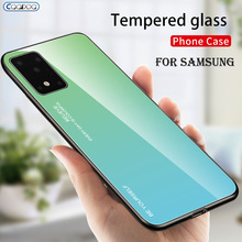 Gradient Tempered Glass Case For Samsung Galaxy S8 S9 S10 S20 Plus S10E Ultra Phone Cover For Galaxy Note 8 9 10 pro Glass Cases on AliExpress