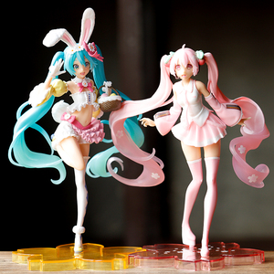 Anime figure Hatsune Wedding dress Cherry blossoms Miku Hatsune Spring Image ver Cute Statue Miku PVC Collection Model Toy Doll