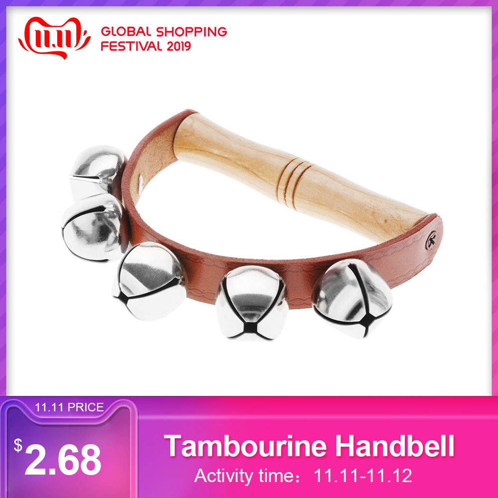 Tambourine Handbell Baby Kid Child Early Educational Musical Instrument Rhythm Beats Shaking Small Jingle Bell Toy  Instrumento
