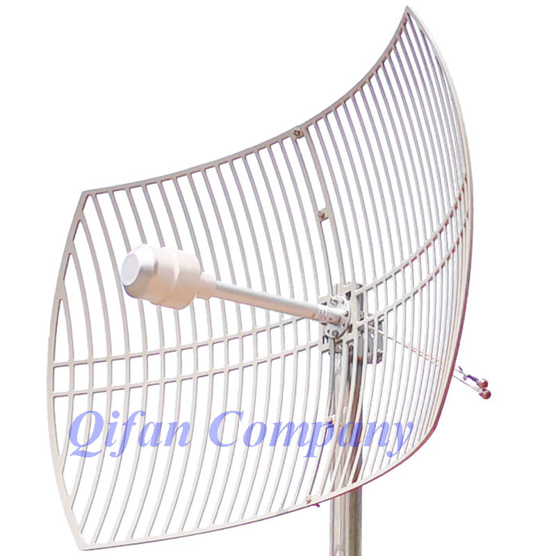 2pcs/lot 3G 4G LTE Parabolic Grid Antenna 1700-2700MHz Outdoor Antenna 2X24dBi External Antenna With 2x N Female